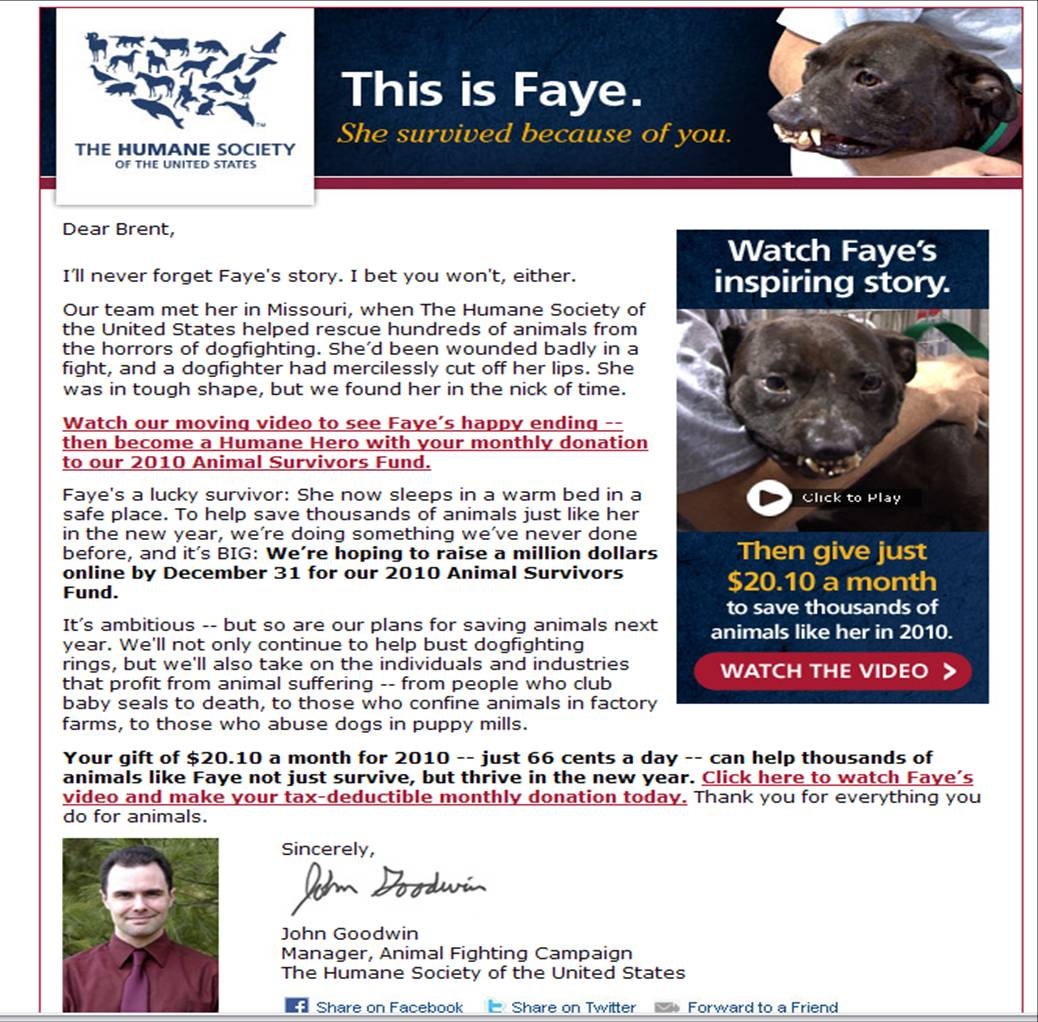 Sample Letter Asking For Donations For Animal Shelter. The fundraising appeal from John Goodwin of the Humane Society  United States was ambitious Betrayal Deceit at
